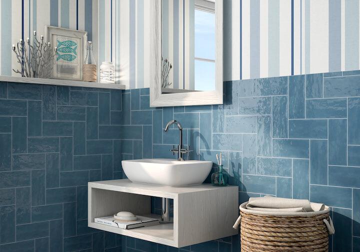 baño color proveedora de la construccion
